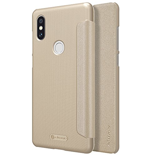 Funda® Ultra Sottile PU Ecopelle Flip Custodia per Xiaomi Mi MIX 2S(Oro)