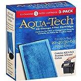 Aqua-Tech EZ-Change #3 Activated Carbon Filter Cartridges for 20-40 / 30-60 Gallon Aquarium Power Filters, 3 Pack
