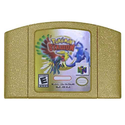 Game Cartridge,ZalaCoo Game Memory Card for Pokemon Stadium 2 N64 US Version