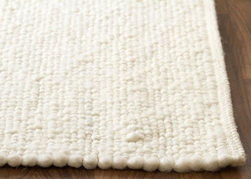 Birgsau Handweb Teppich - aus nachhaltiger, deutscher Produktion - weiß, Größe: 70x140 cm