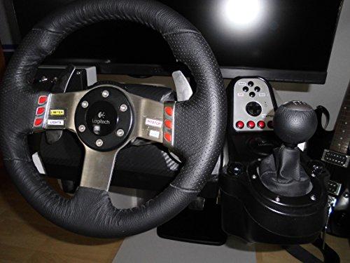 Conjunto de volante Logitech G27 + pedales + palanca de cambios para PC, PS2 y PS3 Cuero Negro / acero