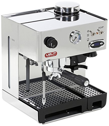 Lelit PL042TEMD Independiente Manual Máquina espresso 2.7L 2tazas Acero inoxidable - Cafetera (Independiente, Máquina espresso, 2,7 L, Molinillo integrado, 1200 W, Acero inoxidable) 37x32x26cm