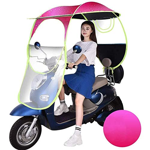Universal Car Motor Scooter Paraguas Mobility Sun Shade Rain Cover Impermeable, Scooter Plegable Mobility Scooter Canopy (Color : Pink, Size : A)