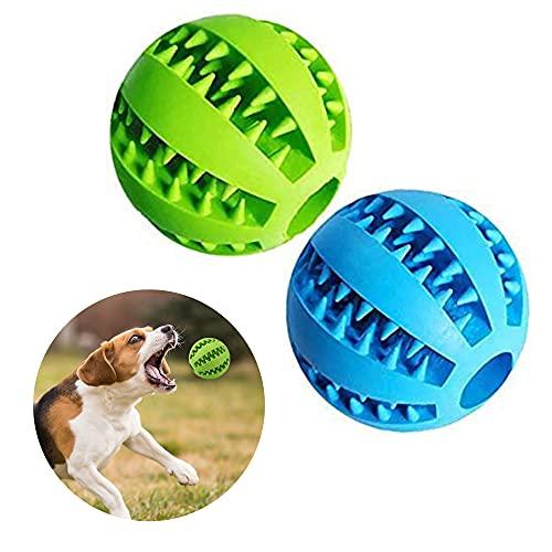CINY Pets Pelota de Juguete para Perros, Goma, Dientes Pelota de Juguete para Masticar Interactivo Dientes Fuertes Jugar Entrenamiento de Inteligencia para Perros para Interior y Exterior (2 PCS)