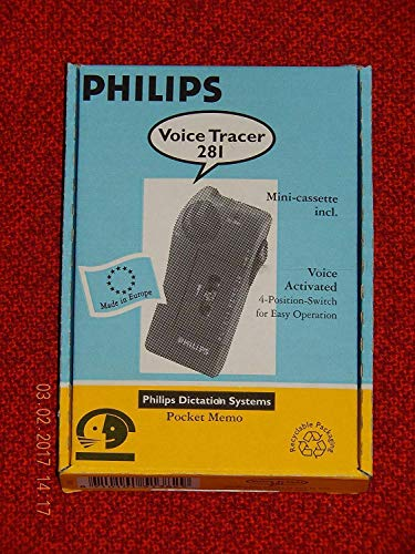 Philips POCKET MEMO LFH 281 VOICE TRACER ACTIVATED mit 1 Kassette
