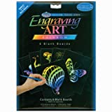 Foil Engraving Art Blank Boards 5'X7' 6/Pkg-Rainbow