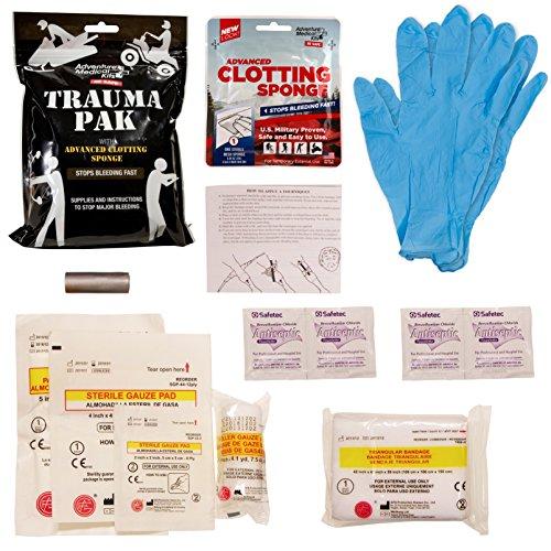 Adventure Medical Kits Trauma Pak with Advanced Clotting Sponge to Stop Bleeding Fast – Zeolite Hemostatic Dressing, Trauma Kit, Bleeding Control Kits, IFAK, Tactical Medical Kit, First Aid Kit