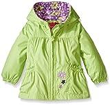 London Fog Baby Girls' Floral Printed Fleece Lined Jacket, Green, 24 Months