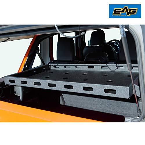 EAG Interior Rear Cargo Basket Rack Luggage Storage Carrier Fit for 2018-2020 Wrangler JL Unlimited Sahara Sport Rubicon
