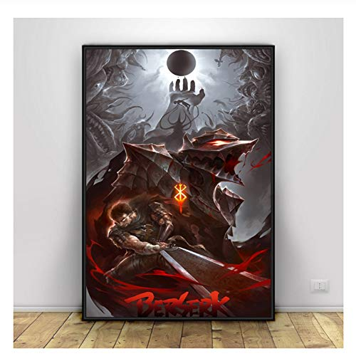 Suuyar Berserk Poster Japan Anime Art Posters Canvas Painting Wall Decor Prints Print on Canvas Wall Art -50x70cm No Frame