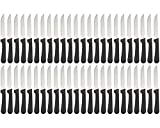 (Set of 48) Seratted-Edge Pointed-Tip Steak Knives, 5-Inch Stainless Steel Blade Steak Knives with...