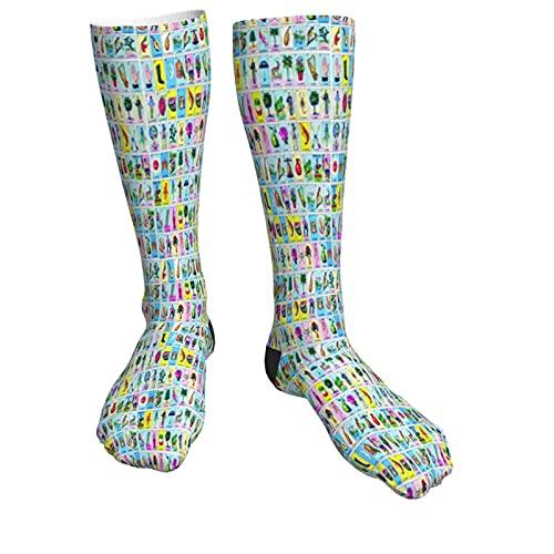 DJNGN 3D-Socken für Frauen The Natural World Physical Map Weiche undurchsichtige kniehohe Socken