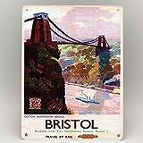 Bristol Clifton Suspension Bridge Eisenbahn Poster