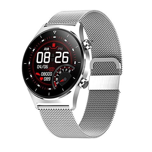 ZRY E13 Reloj Inteligente De Los Hombres, Música De Teléfono Móvil Bluetooth, Múltiples Modos Deportivos, Podómetro De Soporte GPS, Reloj Inteligente Táctil Completo, Adecuado para iOS Android,A