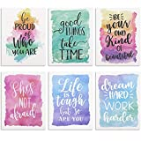 FILE IN STYLE: This 12 pack of cute watercolor inspirational pocket folders offers a modern spin to a simple organization necessity DIMENSIONS: Each file folder measures approximately 12 x 9.25 inches GET INSPIRED: Watercolor patterns provide eleganc...