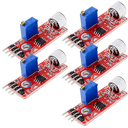 AZDelivery 5 x KY-037 High Sensitivity Sound Detection Big Microphone Module for Arduino including eBook