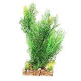 Planta artificial verde para acuario, hierba subacuática, decoración de pecera acuática