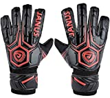 Adult & Youth Soccer Goalkeeper Gloves with Pro Fingersave, 3.6mm Natural Latex Palm,Double Rip-Tab Strap, Match Training for Women and Men,Size 7-10, 3 Colors