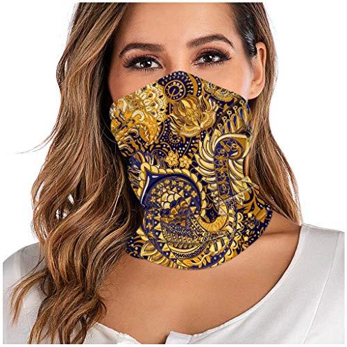 WERVOT 1 x Schlauchschal, Herren Damen Multifunktionstuch Nahtloses Halstuch Outdoor UV Staubschutz Mund-Tuch Atmungsaktiv Schlauchtuch Motorrad Fahrrad Joggen Schal Face Shield(BH)