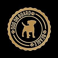 DOG ON BOARD ビーグル カッティング ステッカー ゴールド 金