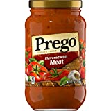 Prego Pasta Sauce, Italian Tomato Sauce with Meat, 14 Ounce Jar (Pack of 12)
