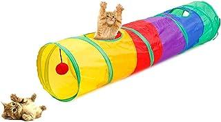 Túnel para Gatos, Juguete del Gato Túnel Extensible Plegable Gato Jugar Túnel Casa del Laberinto del Juguete con Pompón pa...