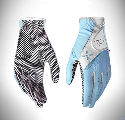 sxyp 1 Paar Golfhandschuhe Frauen Links Rechts Handschuhe rutschfeste Damen Atmungsaktive Golfhandschuhe Sport Golf ZubehöR