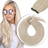 Sunny Tape in Hair Extensions 20 inch #60 Platinum Blonde...