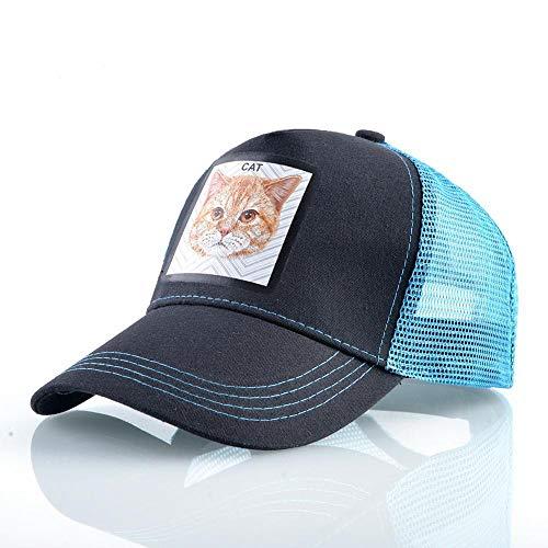 Baseball Kappe Fashion Trucker Caps Frauen Casual Visier Hut Mit Cat Patch Snpaback Baseball Cap Männer Hip Hop Blue1