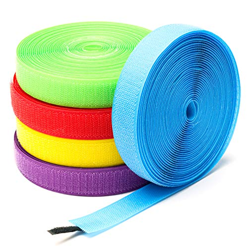 R HORSE 5 Rolls 137 Feet Carpet Markers Strips Reusable Nylon Carpet Strips Spots Markers for Teachers and Social Distancing, 5 Colors (1 Inch in Width)
