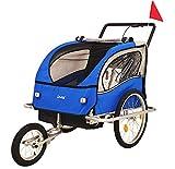 DMS® Fahrradanhänger 2 in 1 Kinderanhänger...