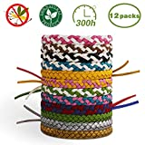 X99 Mosquito Repellent Bracelet 12 Pcs, Insect Mosquito Killer 100% Natural Ingredient
