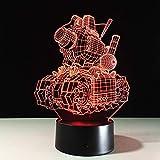 Illusion Visuelle 3D Lampe De Réservoirtransparent Acrylique Veilleuse Led Fée Changement De Couleur Touch Table Bulbing Bowl Light Led Night Lights From Lights