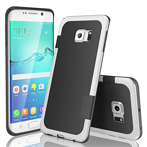 TILL for Galaxy S6 Edge Case, TILL(TM) Ultra Slim 3 Color Hybrid Impact Anti-Slip Shockproof Soft TPU Hard PC Bumper Extra Front Raised Lip Case Cover for Samsung Galaxy S6 Edge G925 [Black]