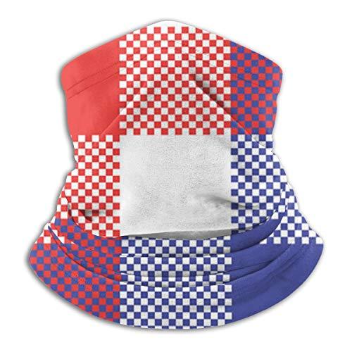 uytrgh Winddichte Tischdecke-Check-Pixel-Seamless-PatternNeck Schal Gesichtsmaske Hals Leggings Schal