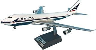 1/200スケールボーイング747から100のデルタ航空合金モデル、大人のギフトやグッズ、13.9Inch X 11.7Inch