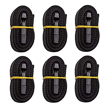 """iCOVER Boat Cover Tie Down Straps Length Adjustable Quick Release Tightening Straps 86 inch 7ft 2in  Long x 1"""" Wide 6 Packs IBCA0002 Black"""