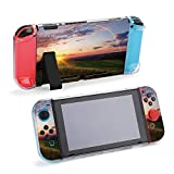 SUPNON Sunset with Rainbow Compatible with Nintendo Switch Console & Joy-Con Protective Case, Durable Flexible Shock-Absorption Anti-Scratch Drop Protection Cover Shell Design5563