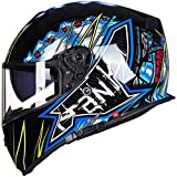 ZHXH Casco moto integrale, casco femminile integrale modulare per quattro stagioni adulto con slot per cuffie incorporato, con certificazione antiappannamento/dot/ece,