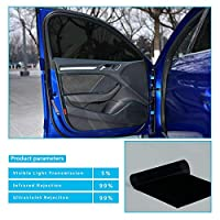 車ステッカー カーアクセサリ 5%のVLTディープブラックカーウィンドウティントフィルム用の車のサイドウィンドウハウス商業用ソーラープロテクト152cmx30cm DIYステッカー (Size : 30cmx152cm)