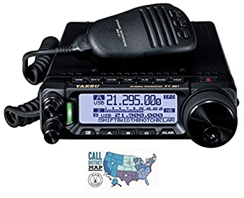 Bundle - 2 Items - Includes Yaesu FT-891 HF/6M All Mode 100W Mobile Transceiver and Ham Guides TM Quick Reference Card