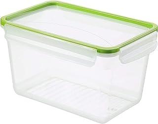 Rotho Clic & Lock Boîte de conserve de 3l avec couvercle et fermeture, Plastique (PP) sans BPA, transparent / vert, 3l (2...
