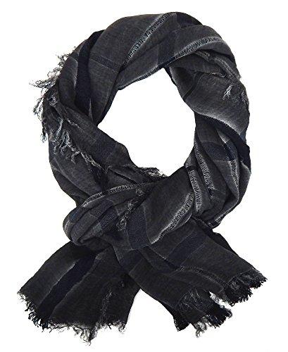 Ella Jonte Écharpes foulard d'homme élégant et tendance de la dernière collection by Casual-style gris noir bleu coton