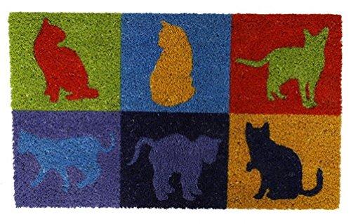 Colorida–Felpudo de coco Gatos