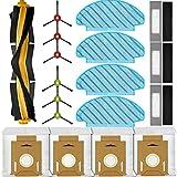 KGC 18 Stück Ersatzteile Zubehör für Ecovacs Deebot Ozmo T8 T8+ T8 AIVI T8 Max N8 Pro N8 Pro+ T9 T9+ Staubsauger, Enthalten 1Hauptbürste + 4Staubbeutel +3Filter + 6Seitenbürste + 4Wischtücher
