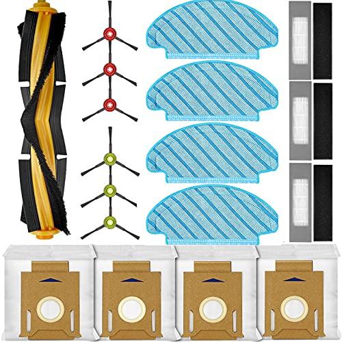 KGC 18 Pezzi Kit ricambi Compatibile con ECOVACS DEEBOT OZMO T8 T8 AIVI T8MAX/ OZMO N8 PRO N8 PRO+/ OZMO T9 T9+, Accessori di Ricambio per ECOVACS DEEBOT OZMO T8 T8 AIVI N8 PRO N8 PRO+ T9+