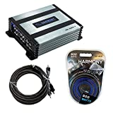 Harmony Audio Compatible with Universal Vehicle HA-A400.4 4Ch 800W Sub Amp with HA-AK8 900W Amp Install Kit, and HA-RCA17 2Ch 17ft RCA Cable