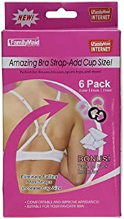 6 Pack Bra Strap Clips Plus Body Tape - The Ultimate Bra Strap Solution Adjustable Concealer Clips - For Racer Backs, Dresses, Sleeveless Shirts - Increase Cup Size - One Size, Nude, Black, Clear