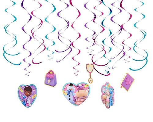 Foil Swirl Value Pack Decorations   Disney Doc McStuffins Collection   Party Accessory