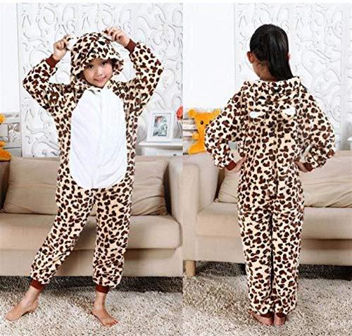 YYYSHOPP Pijama de animales para niños, para bebés, niños, niñas, para dormir, pijama grande (color: leopardo, tamaño: 3T)